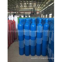 Cylindre de gaz en acier inoxydable au nitrogène et à l'oxygène d'oxygène
