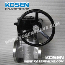 Stainless Steel Worm Gear Soft Sealing Plug Valves (X343)