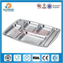 plaque carrée en acier inoxydable de haute qualité