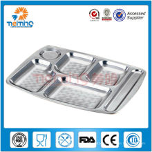 square stainless steel dinner plate