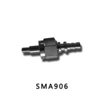 SMA 906 avec connecteur fibre optique en métal ferreux
