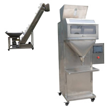 tea with in different nuts bolt food sensor tow head granule powder packing weight automatic weight packing machine