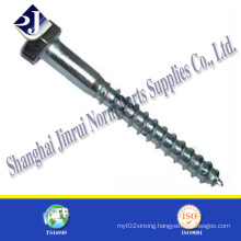 China Hot Sale Hex Wood Screw
