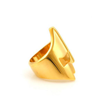 Custom gold black silver mask ring