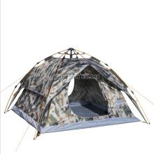 Tente de 3 hommes en gros, tente de camping de camouflage de polyester