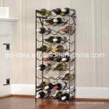 Специальная Конструкция металл вино стойка дисплея/ Стеллаж для выставки товаров/выставки для вина