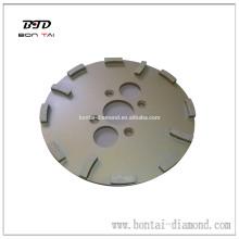 Tête de meulage de diamant 290mm pour meuleuse de sol