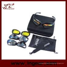 Daisy C5 polarisierte Brille Wüste 4 Objektiv Outdoor-UV400 Schutz Jagd Militär-Sonnenbrille mit Fall Kriegsspiel Gläser