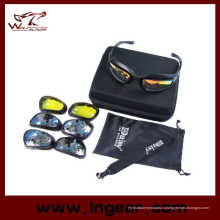 Дейзи C5 поляризованные очки пустыни 4 объектива открытый UV400 защиты охоты военных солнцезащитные очки с очки случае войны игра