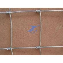 Rede de arame de cerca de pradaria de gado (fábrica)