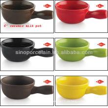6inch pote de leche de cerámica para BS12096