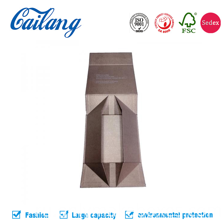 collapsible box rigid cardboard packaging for apparel and cosmetics