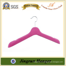 New Arrival Robes Hanger Hot Sale Colorful Flocking Hanger