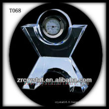 Magnifique horloge en cristal K9 T068
