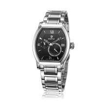 Automático inoxidable hombres de negocios reloj de pulsera