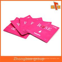 Асептический ламинированный материал пластиковые заказные печатные термозапечатанные косметические пакеты