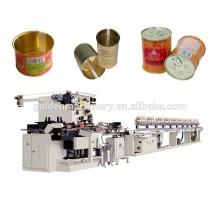 Conteneur de boîte de conserve faisant la chaîne de production de machine