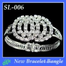 Venda al por mayor nuevos brazaletes indios de la manera, pulsera de plata del metal