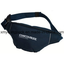 Navy Blue Embroidery Sport Waist Bag Basic Bum Bag