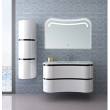 White Wall mounted Irregular Design Bathroom Vanity Cabinet