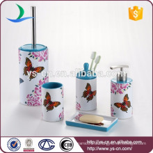 Schöne Schmetterling Abziehbild Keramik 5Pcs Bad Handtuch Geschenk-Set