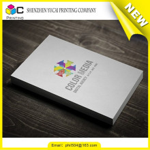 Film lamination paper raised print business cards