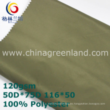 Tela 100% de la tela cruzada de la memoria del poliéster para la chaqueta (GLLML351)