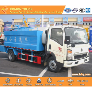 HOWO 4x2 Combined suction truck
