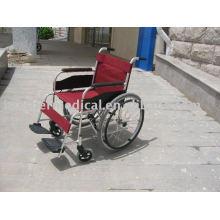 Cadeira de rodas de alumínio básica Cilindro de cruzamento duplo Rodas de raio Melhor soldagem