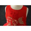 2018 high quality sleeveless casual new model flower girl dress