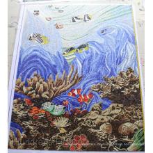 Mosaikmalerei, Künstlerisches Mosaik für Schwimmbecken (HMP785)
