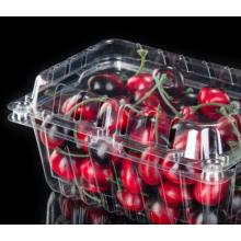 Boîte d'emballage en plastique transparente à clapet pour fraise