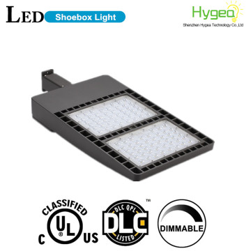 led shoebox pole light housing