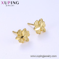 95961 xuping wholesale cheap fashion simple design 24k gold color women's stud earrings