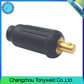 Tig copper welding connector male female