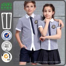 2016 Colorblock Дешевая красивая азиатская школьная рубашка