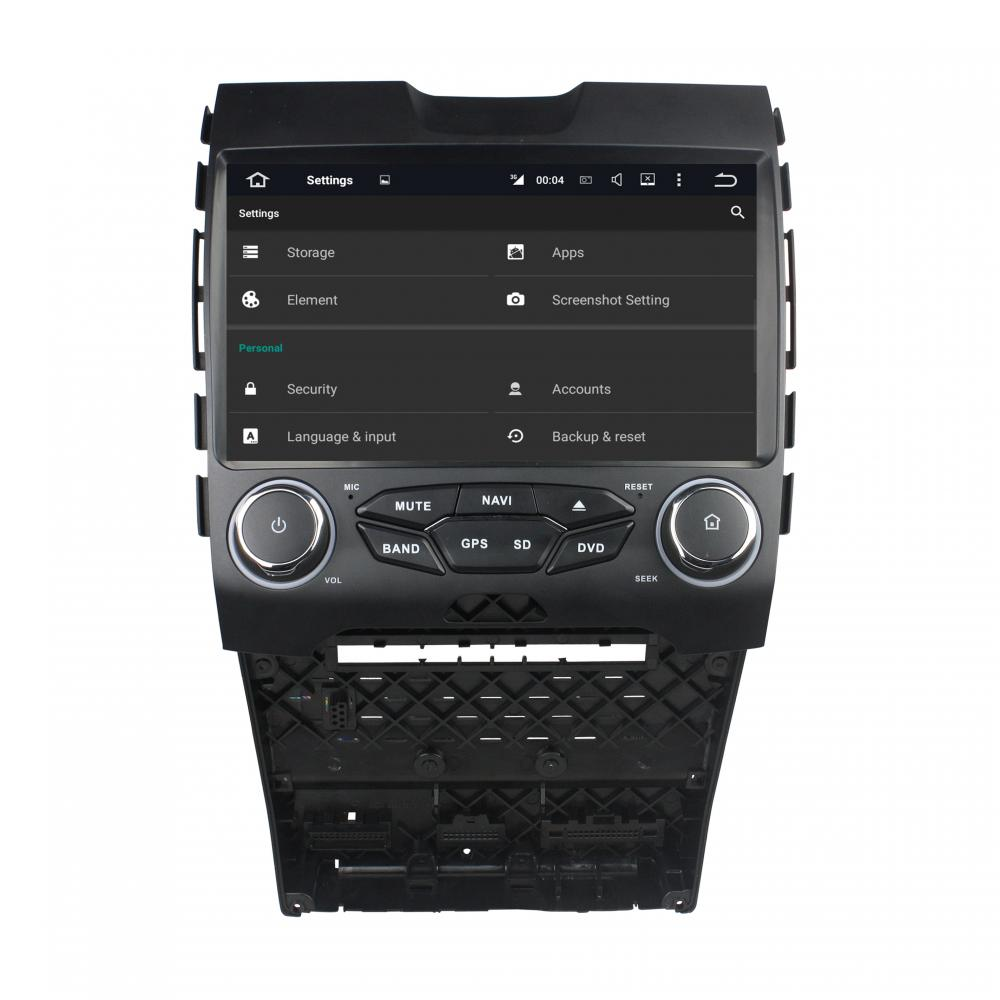 Reproductor de DVD Ford EDGE Android 7.1.1 y 10.1 pulgadas