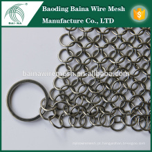 "Limpador de ferro fundido BNS7 ""X7"" Chainmail Stainless Steel"