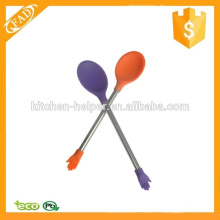 Simple and Healthy Stainless Steel Handle Silicone Cheap Coffee Stirring Spoon