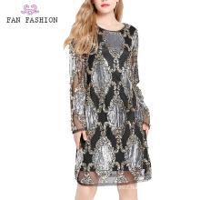 Party Sequin Longsleeve Dresses