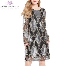 Party Sequin Longsleeve Dresses