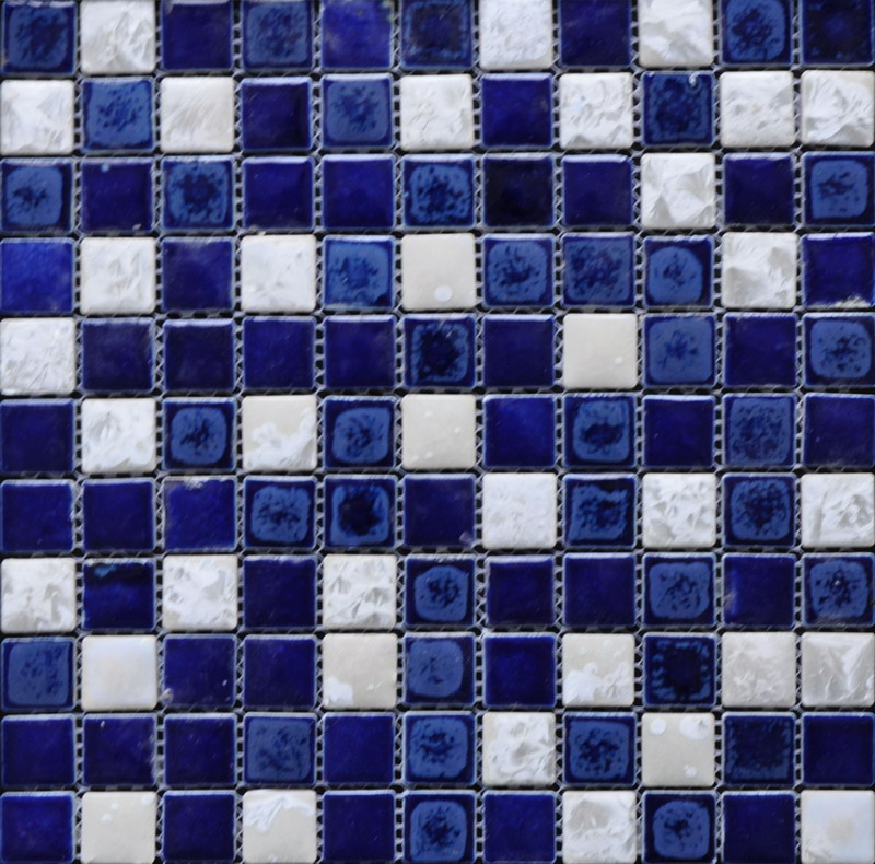 Blue Glazed Ceramic Mosaic