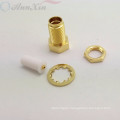 straight SMA female connector for 1.13mm cable soldering