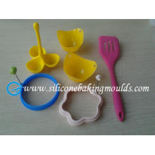 6pcs Silicone egg cooking tools set, silicone kitchen tools set
