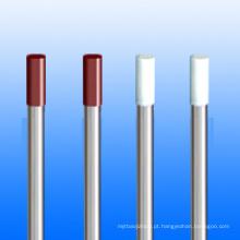 Barra de tungsténio, hastes/eléctrodos de tungsténio em superfície preta