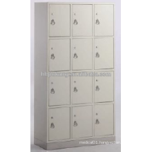 12-doors cupboard for shoes with stainless steel base