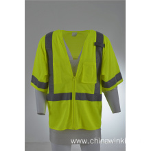 Hi Vis Vest Mesh Work Industrial Safety Vest