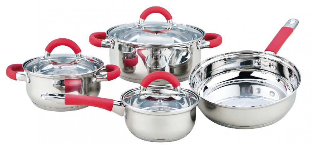 7 Pieces Belly Shape Cookware Set