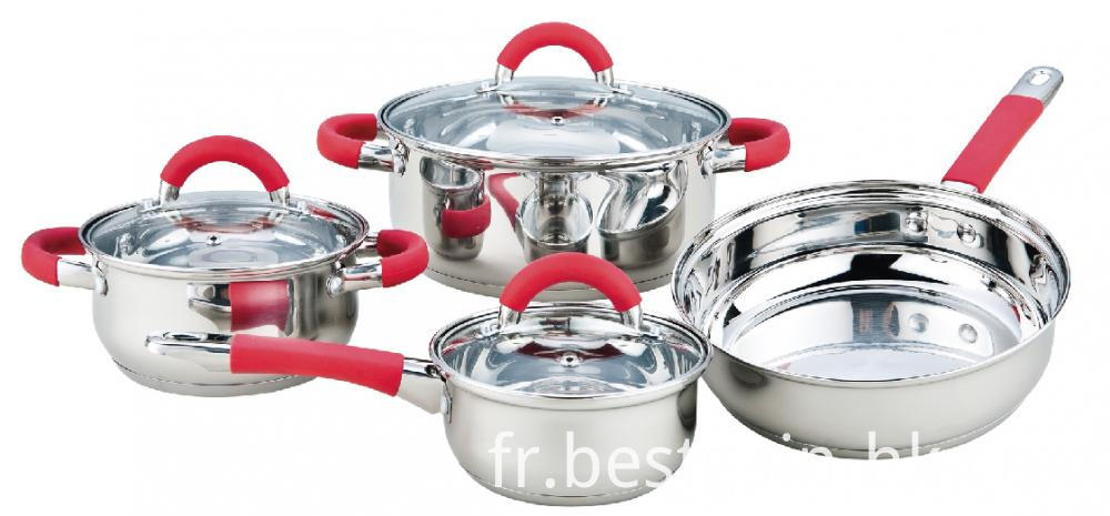 Silicone Handles Cookware Set