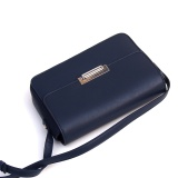 New Fashion Women's Tote PU Lady Handbags Shoulder Bag Simple Tote Messenger Bags Dark Blue Sf-0036